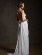 Empire Sweetheart Sweep Train Chiffon Wedding Dress With Ruffle Beading (002011570)