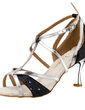Women's Leatherette Sparkling Glitter Heels Sandals Latin With T-Strap Dance Shoes (053020316)