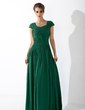 A-Line/Princess Square Neckline Floor-Length Chiffon Mother of the Bride Dress With Ruffle (008014144)