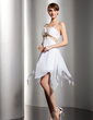 Empire Sweetheart Knee-Length Chiffon Homecoming Dress With Ruffle Sash Beading Sequins (022010586)