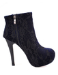 Lace Stiletto Heel Ankle Boots With Zipper shoes (088054736)