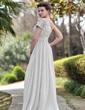 Çan/Prenses Tek-Omuzlu Uzun Etekli Chiffon Sequined Gece Elbisesi Ile Büzgü Boncuklama (017022933)