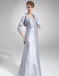 Sheath/Column Sweetheart Floor-Length Taffeta Mother of the Bride Dress With Ruffle Beading Sequins (008006075)