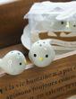 Ptasie Gniazdo Ceramiczny Salt & Pepper Shakers Z Atłasowe Wstążki (051005573)