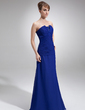 A-Line/Princess Scalloped Neck Floor-Length Chiffon Mother of the Bride Dress With Ruffle Beading Sequins (008006521)