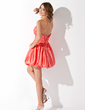 A-Line/Princess Sweetheart Short/Mini Taffeta Homecoming Dress With Ruffle Beading (022013951)