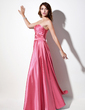 A-Line/Princess Sweetheart Floor-Length Charmeuse Bridesmaid Dress With Ruffle (007006376)