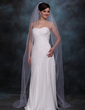 One-tier Chapel Bridal Veils With Pencil Edge (006020357)