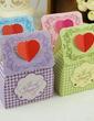 Floral Heart Design Favor Boxes (Set of 12) (050032970)