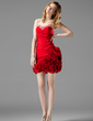 Sheath/Column Sweetheart Short/Mini Taffeta Homecoming Dress With Ruffle Beading Flower(s) (022004332)