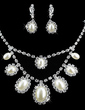 Beautiful Alloy/Pearl With Rhinestone Ladies' Jewelry Sets (011009888)