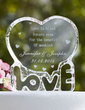 Personalized Love Design Crystal Cake Topper (118030212)