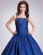 Ball-Gown Floor-Length Taffeta Quinceanera Dress With Beading Sequins (021002868)