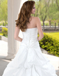 Ball-Gown Sweetheart Chapel Train Taffeta Wedding Dress With Ruffle Lace Beadwork (002012223)