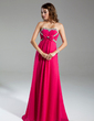 Empire Sweetheart Sweep Train Chiffon Holiday Dress With Ruffle Beading Bow(s) (020015319)