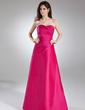 A-Line/Princess Sweetheart Floor-Length Taffeta Bridesmaid Dress With Ruffle (007004289)