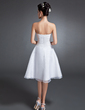 Çan/Prenses Askısız Diz Hizası Organza Mezunlar Gecesi Elbisesi (022015089)
