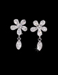 Flower Shaped Alloy/Rhinestones Ladies' Jewelry Sets (011028380)