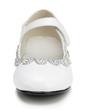 Kids' Leatherette Low Heel Closed Toe Pumps With Buckle Rhinestone (047056269)