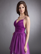 A-Line/Princess Sweetheart Floor-Length Chiffon Holiday Dress With Cascading Ruffles (020016244)