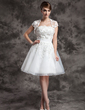 Short Sleeve Tulle Wedding Wrap (013014986)