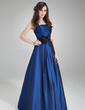 Çan/Prenses Askısız Uzun Etekli Taffeta Nedime Elbisesi Ile Büzgü Çiçek(ler) (007004312)