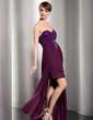 Sheath/Column Sweetheart Floor-Length Chiffon Evening Dress With Ruffle Beading (017014542)