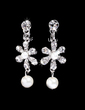 Flower Shaped Alloy/Rhinestones With Pearl Women's Jewelry Sets (011028390)