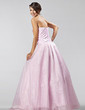 A-Line/Princess Sweetheart Floor-Length Organza Quinceanera Dress With Beading (021020885)