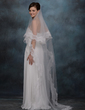 One-tier Chapel Bridal Veils With Lace Applique Edge (006020338)