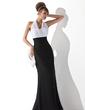 Empire Halter Floor-Length Chiffon Evening Dress With Ruffle (017020321)
