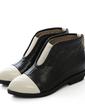 Piel Tacón bajo Botas al tobillo zapatos (088054413)