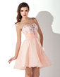 A-Line/Princess Sweetheart Short/Mini Organza Homecoming Dress With Ruffle Beading (022010243)