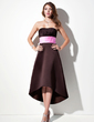 Empire Sweetheart Asymmetrical Satin Bridesmaid Dress With Ruffle Sash (007001900)