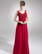 A-Line/Princess V-neck Floor-Length Chiffon Mother of the Bride Dress With Lace Beading Sequins (008006256)