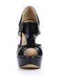 Leatherette Stiletto Heel Sandals Platform Peep Toe shoes (085026442)
