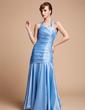 Denizkızı Yular Uzun Etekli Taffeta Nedime Elbisesi Ile Büzgü (007004567)