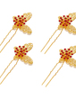 Simple Butterfly Alloy Hairpins (Set of 4) (042026843)