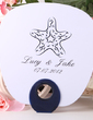 Personalized Starfish Plastic Hand Fans (118029528)