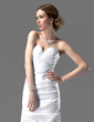 Sheath/Column Sweetheart Court Train Satin Wedding Dress With Ruffle (002001182)