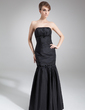Trumpet/Mermaid Strapless Floor-Length Taffeta Mother of the Bride Dress With Beading Sequins (008006549)