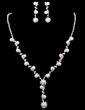 Elegant Alloy/Pearl With Rhinestone Women's Jewelry Sets (011027758)