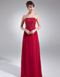 Sheath/Column Strapless Floor-Length Chiffon Mother of the Bride Dress With Beading (008005748)