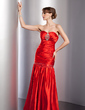 Trumpet/Mermaid Sweetheart Floor-Length Charmeuse Evening Dress With Ruffle Beading Sequins (017014799)