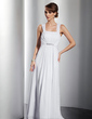 A-Line/Princess Floor-Length Chiffon Evening Dress With Ruffle Beading Bow(s) (017014832)