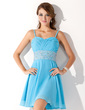 A-Line/Princess Sweetheart Short/Mini Chiffon Homecoming Dress With Ruffle Beading (022010605)