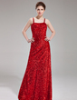 Sheath/Column Sweetheart Floor-Length Sequined Prom Dress (018019686)