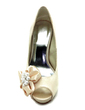 Women's Satin Cone Heel Peep Toe Platform Sandals With Beading Imitation Pearl Satin Flower (047017784)