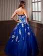 Ball-Gown Sweetheart Floor-Length Tulle Quinceanera Dress With Beading Appliques Lace Sequins (021020924)