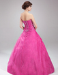 Ball-Gown Strapless Floor-Length Organza Quinceanera Dress With Ruffle Beading Flower(s) Sequins (021002899)